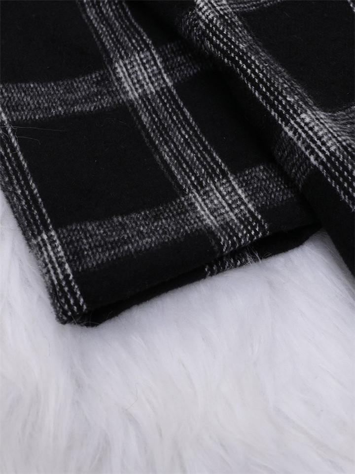 Winter Stylish Mid-length Plaid Coat For Women