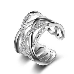 Women's Dazzling Zirconia Simple Ring