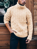 Men's Fashion Solid Color Turtle Neck Sweater