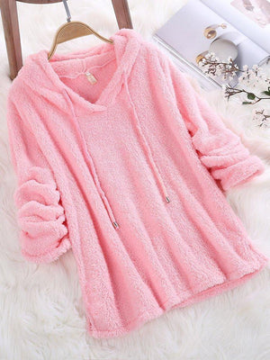 Pretty Long Sleeve Hooded Fleece Sweatshirts