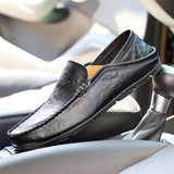 Men's Soft Comfy Sewing Leather Slip-On Loafers
