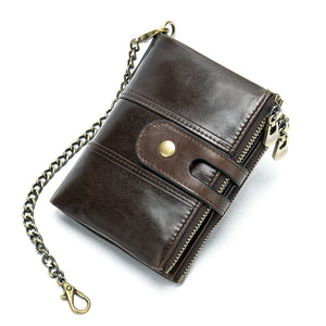 Retro Antitheft Belt Buckles Wallet