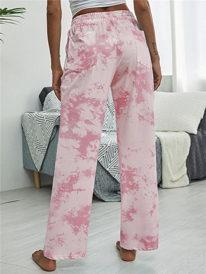 Women Comfy Tie-Dye Drawstring Casual Trousers For Women