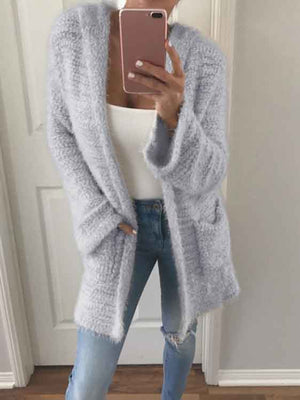 Winter All-match Candy Color Long Sleeve Cardigan Sweaters