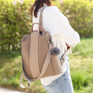 Stylish Large Capacity Crossbody Strap Soft Touch Lightweight Backpack
