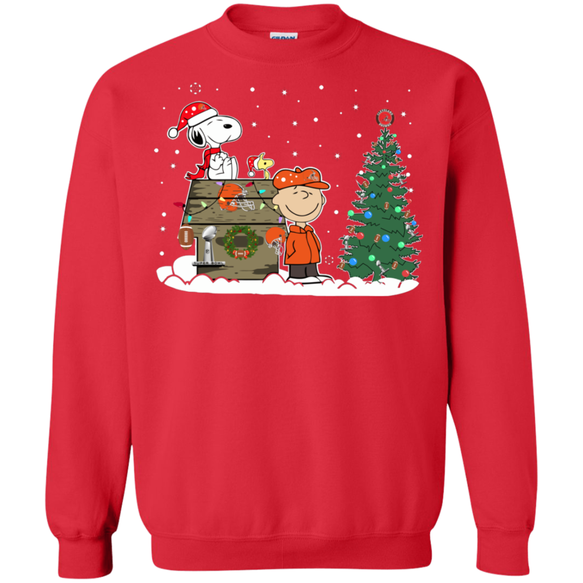 Cleveland Browns Christmas Sweater.Cover Your Body With Amazing Cleveland Browns Snoopy The