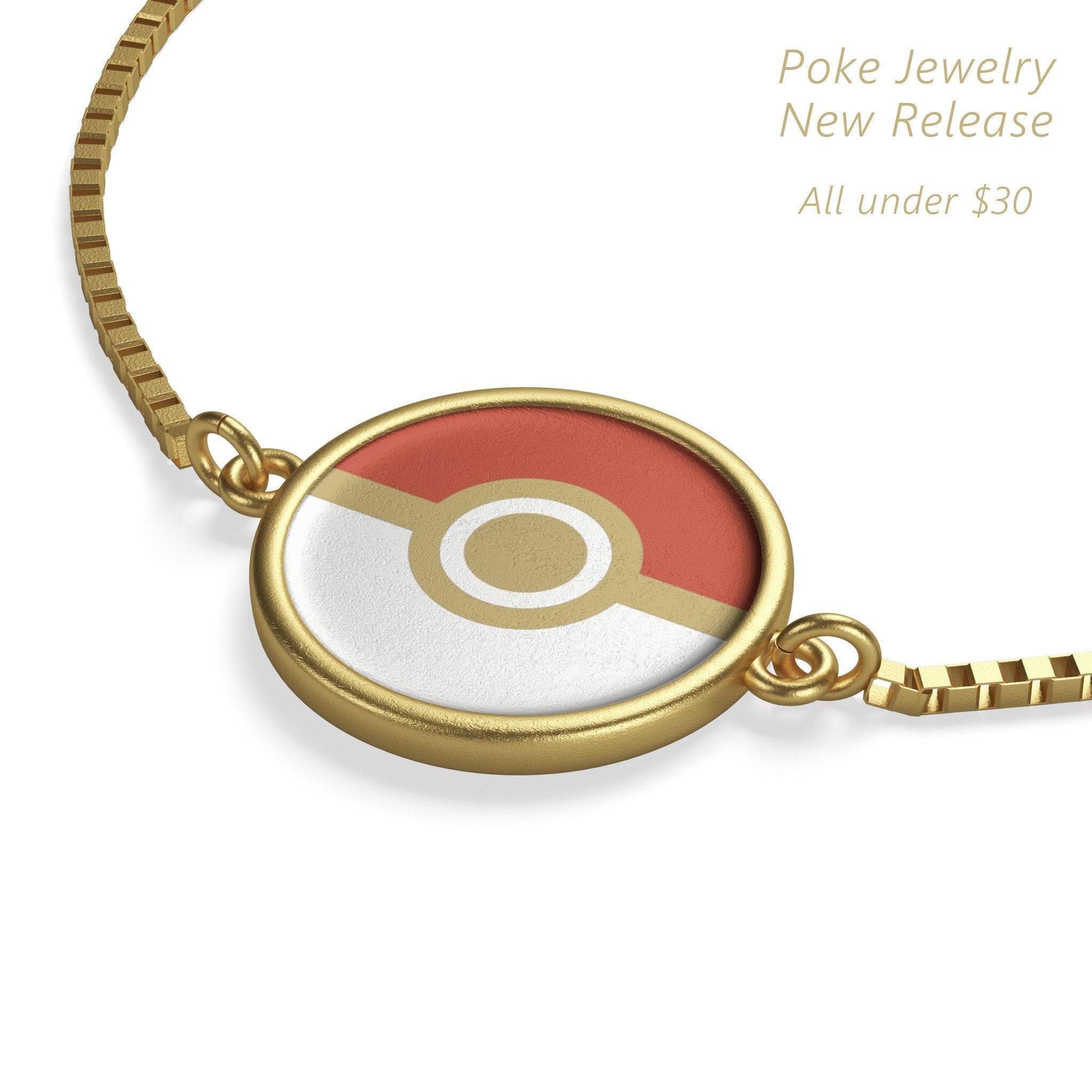 Pokeball Box Chain Bracelet