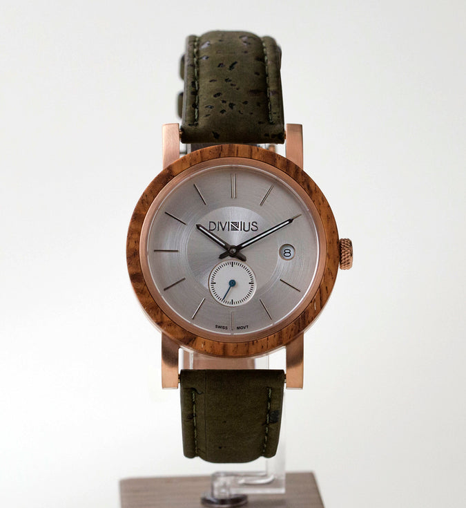 Rose Gold Teak | Olive Green