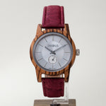 Load image into Gallery viewer, Silver Zebrawood | Wine Red Add On