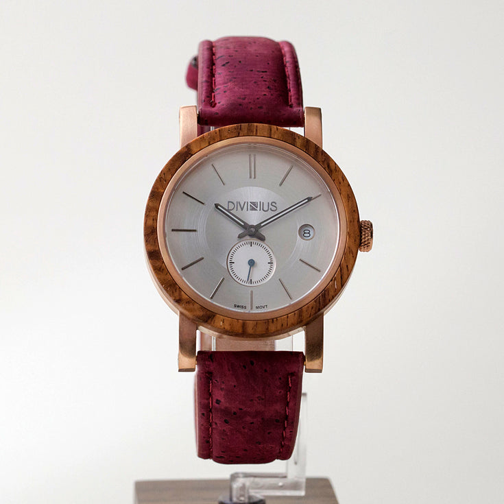 Rose Gold Teak | Wine Red