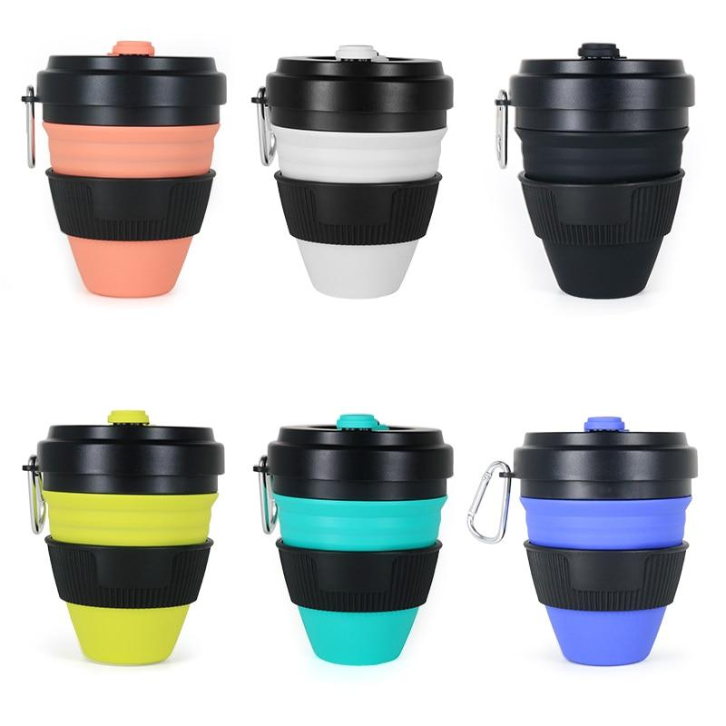 all types and colours of squishy collapsing coffee cups