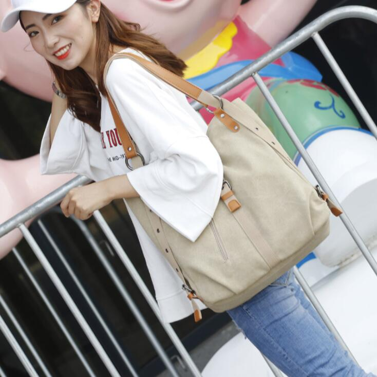 Multi functional Canvas Shoulder Bag