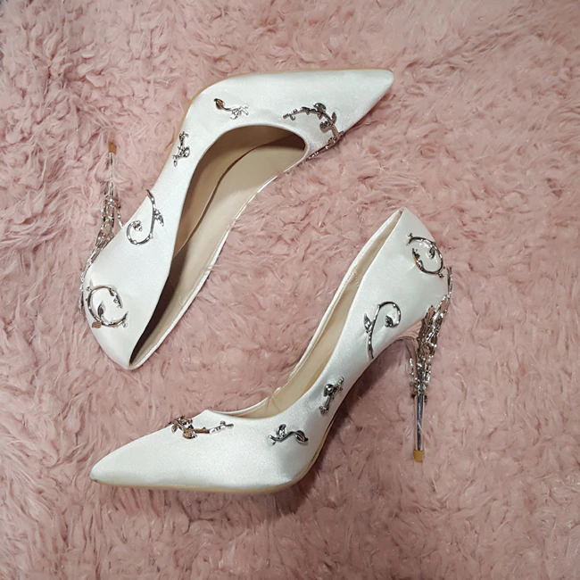 Elegant Pump Flower Wedding High Heel