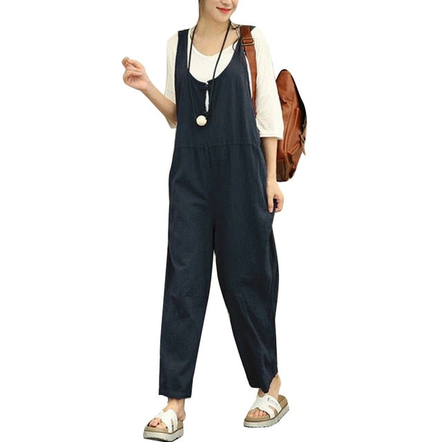 Large Sizes Rompers Women's Jumpsuit