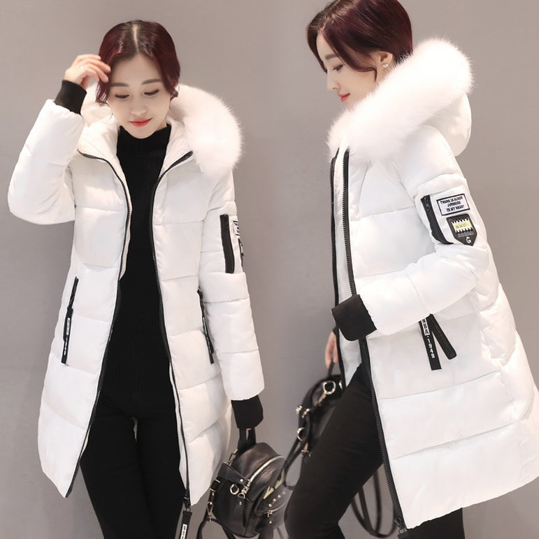 Thick Warm Winter Parkas Female Overcoat