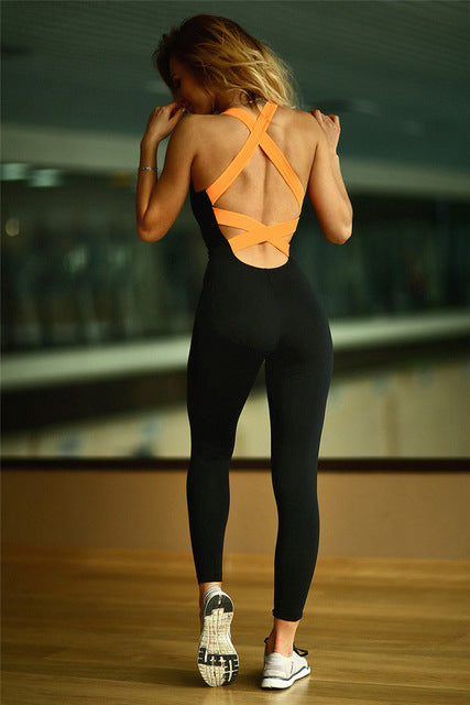 Backless Sport Suit Workou
