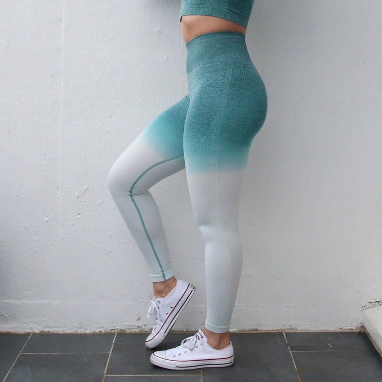 TEAL High Waisted Yoga Pants