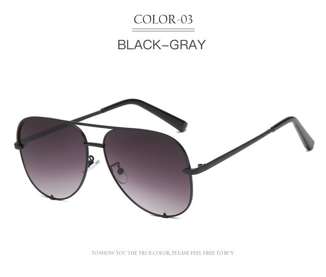 Over Size Pilot Shades Sunglasses