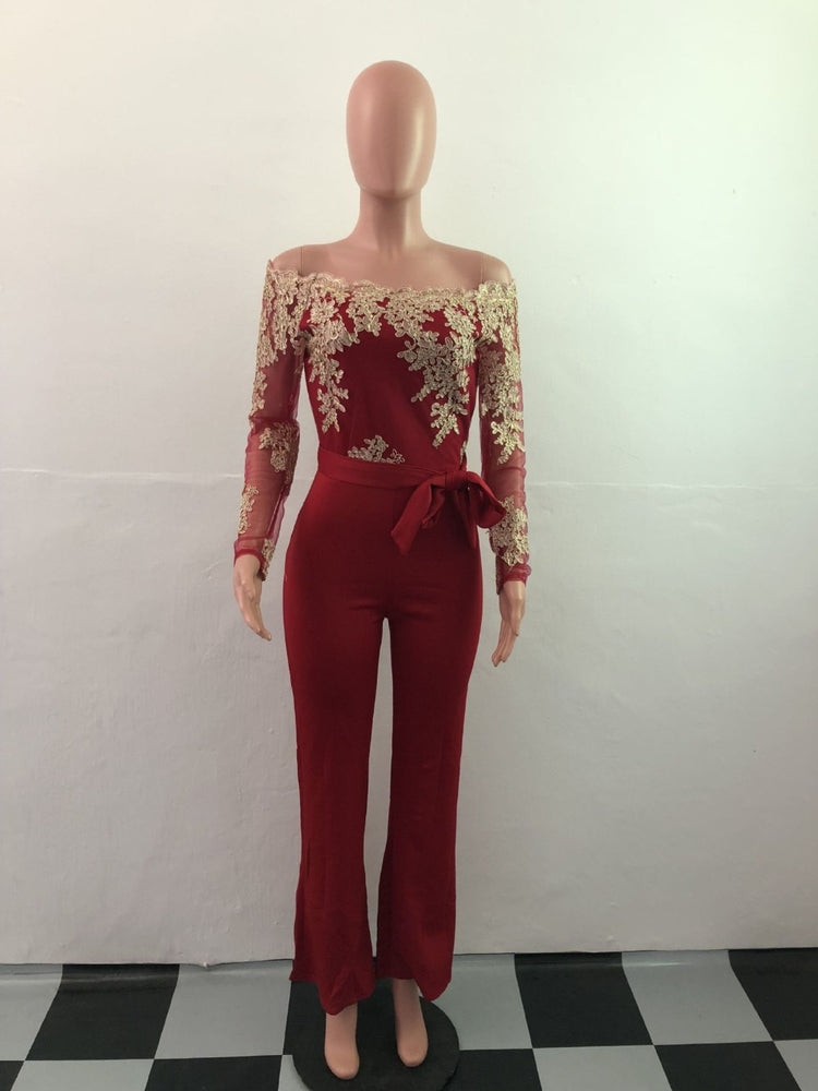 Lace Patchwork Women Jumpsuit