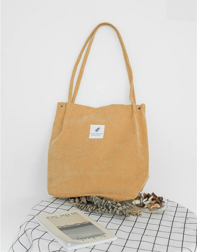 Women Corduroy Tote Ladies Casual