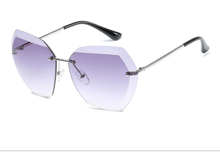 Luxury Rimless Oversized Sunglasses