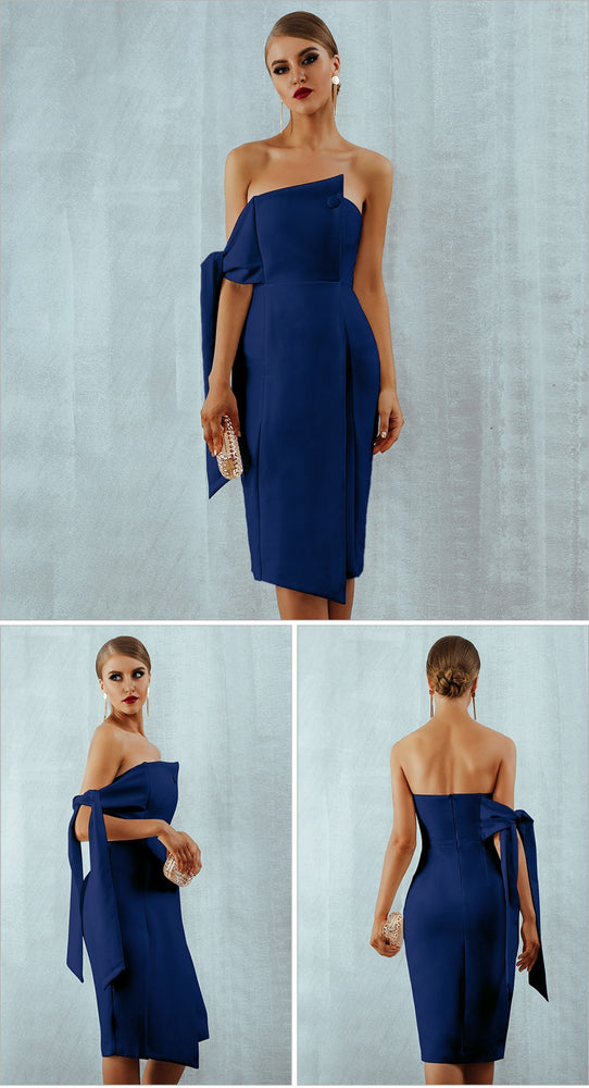 Casual One Shoulder Elegant Dress