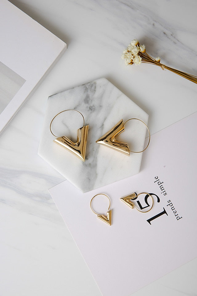 Trend Earrings Simple Metal Wind