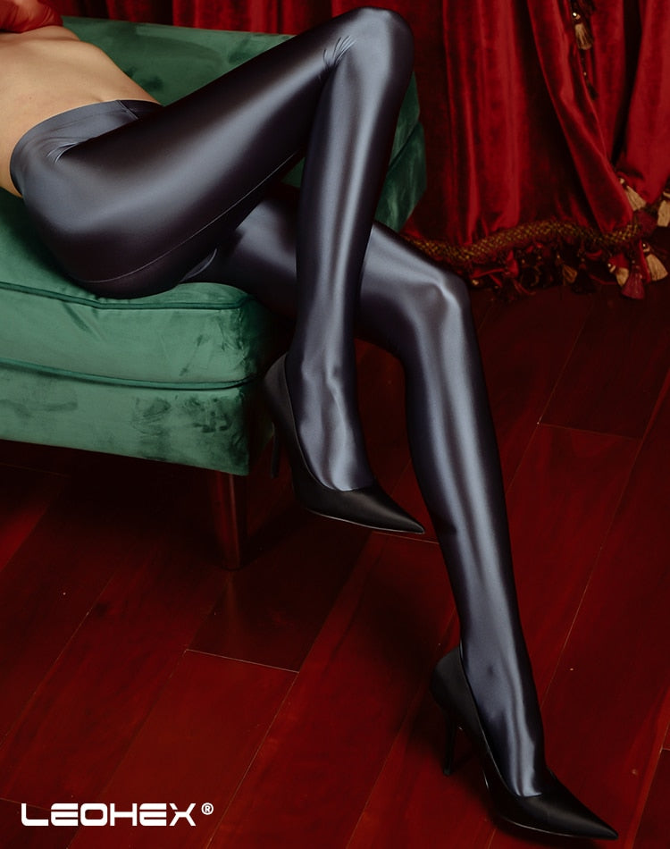 Shiny high waist Tights Sexy