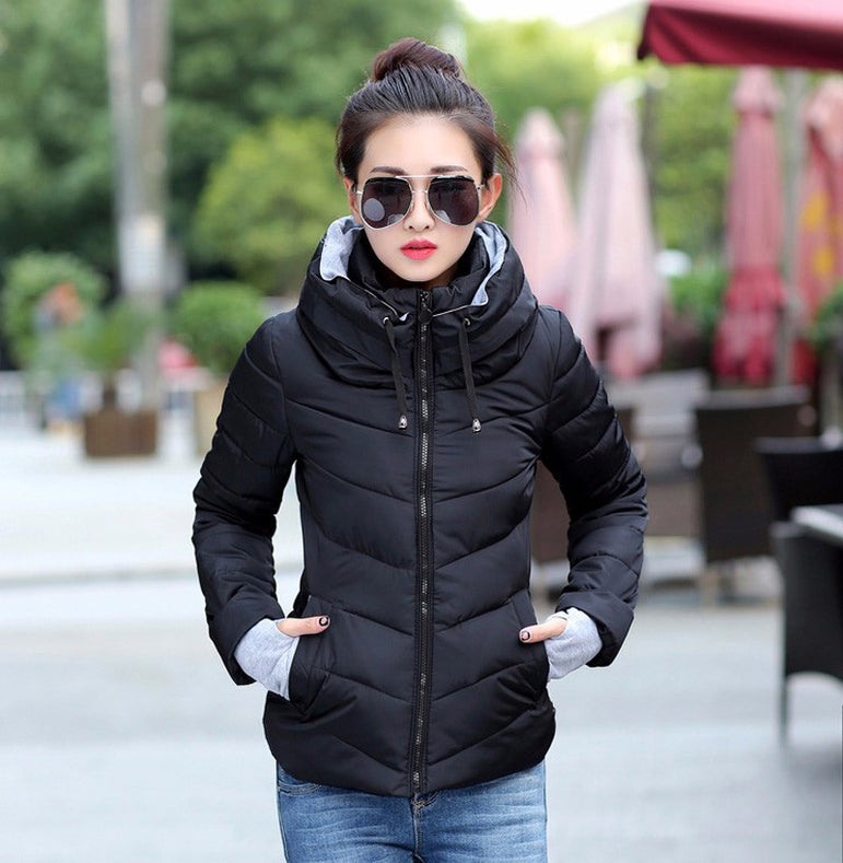 winter jacket short cotton padded womens