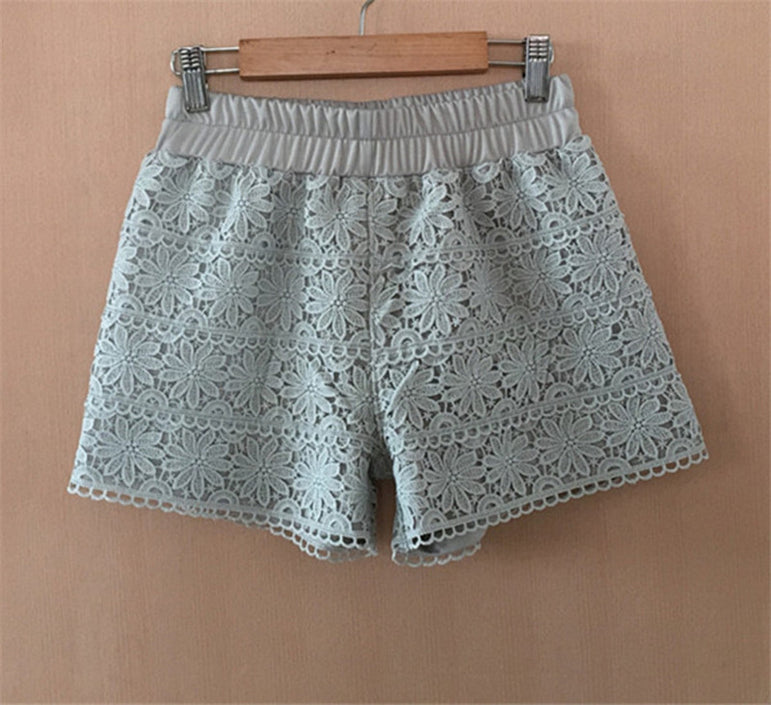 Summer Lace Shorts Women Out Wear