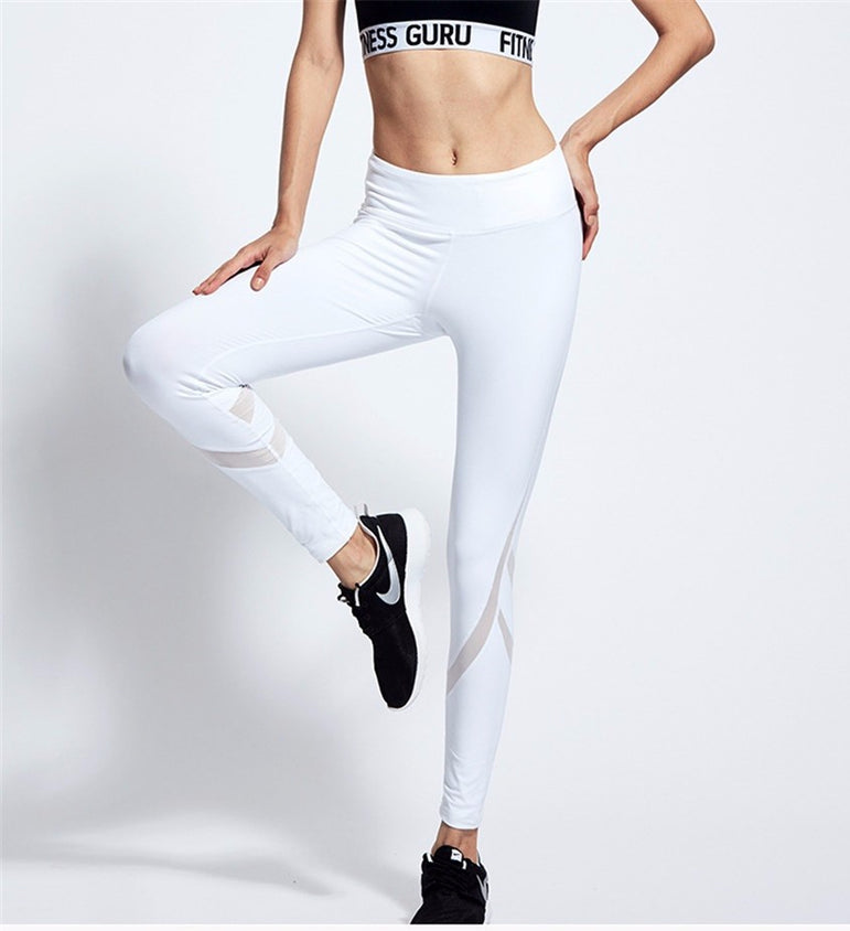 Yoga Pants Tights Running Sports White