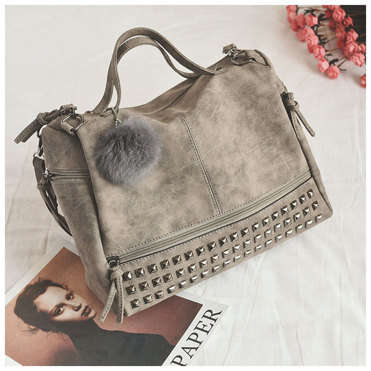 Leather Big Shoulder Bag