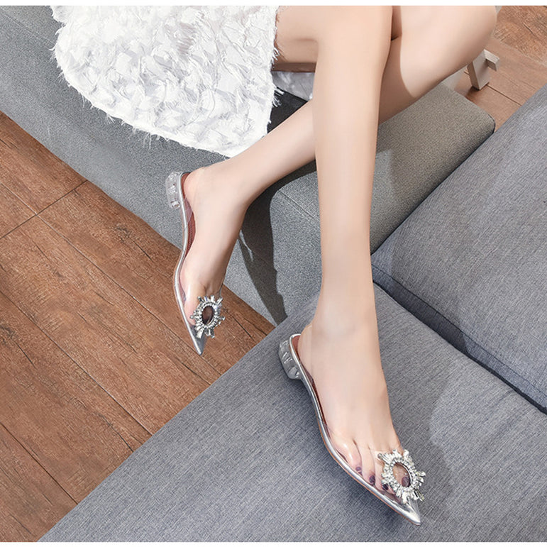 Elegant Pointed toe Rhinestones High heels