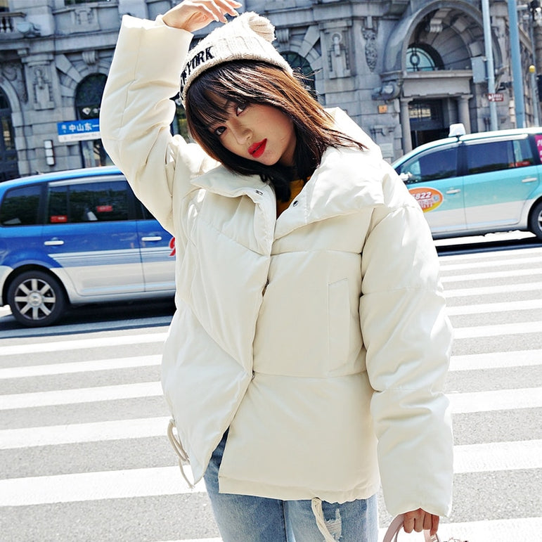 White Female Down Coat Loose Oversized Womens