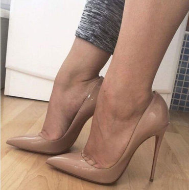 Leather Pointed Toe Stiletto Wedding High Heel