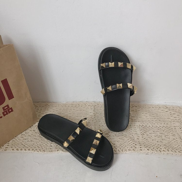 Women Slippers Flat Ladies