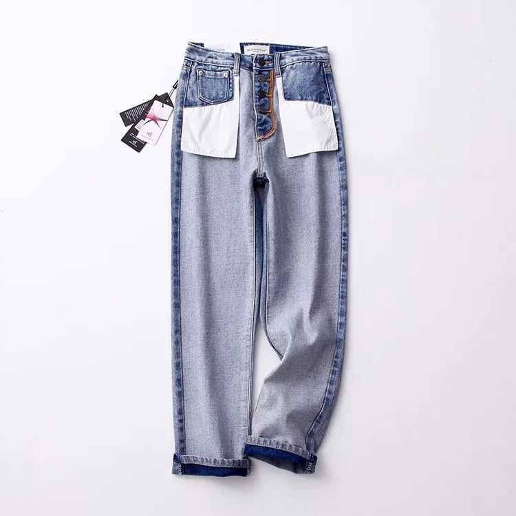 high waist slim vintage washed jeans denim