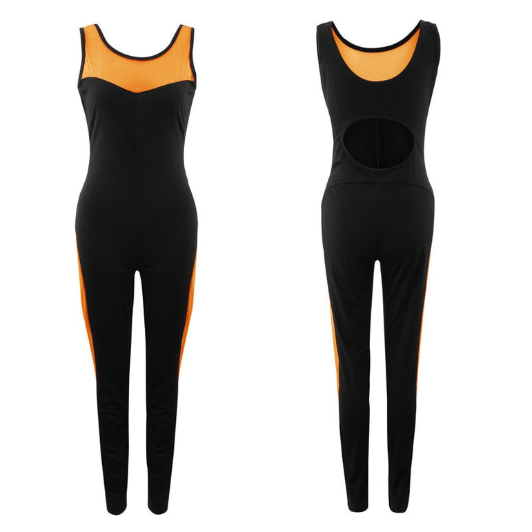 Yoga Set Sports Suit Mesh Jumpsuits