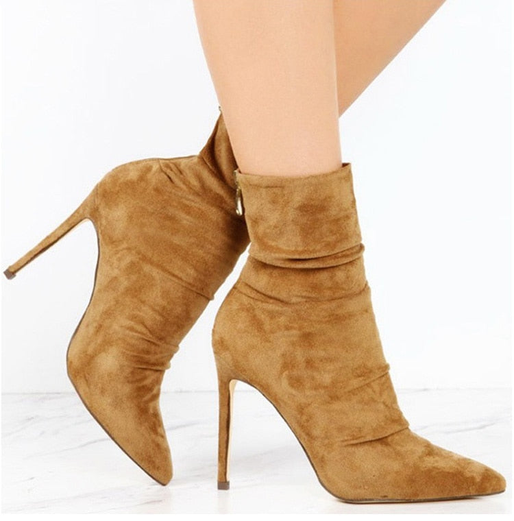 Sexy Ankle Boot Suede Bota