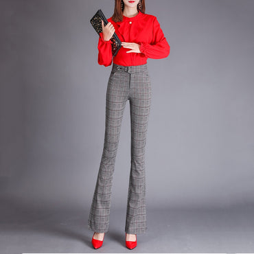 High Waist Skinny Pantalon Flare Pants