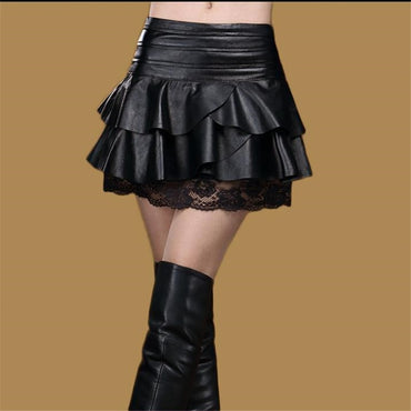 Leather Skirt Lady Oversizedx