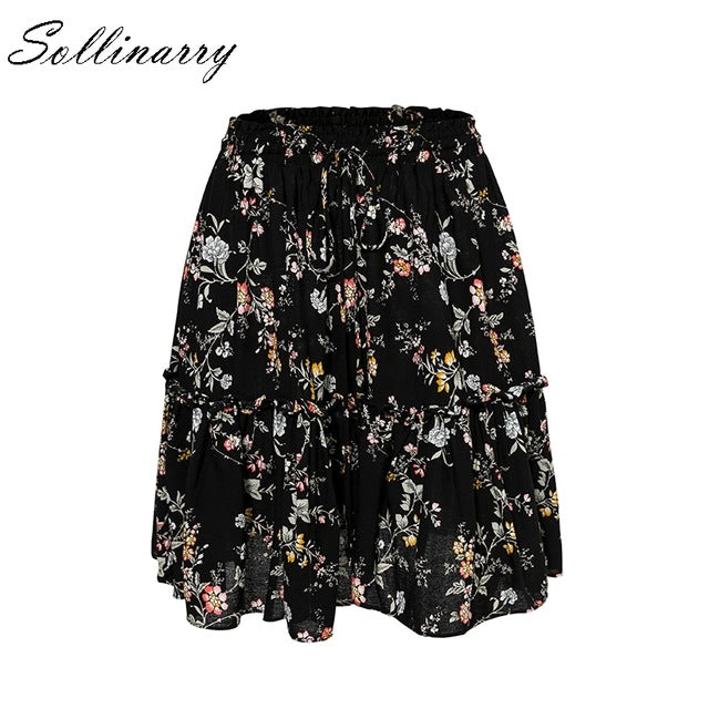 Casual Skirts Women Autumn High Waist
