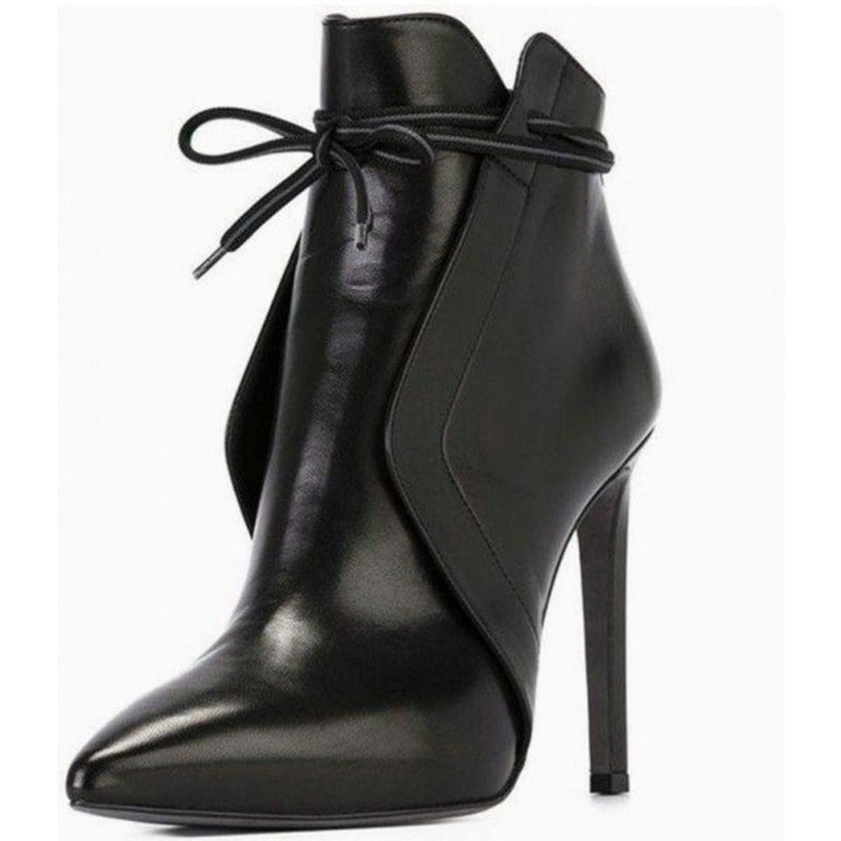 Elegant Pointed Toe High Heel Booties