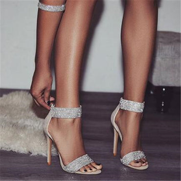 Crystal High Heel Sandal
