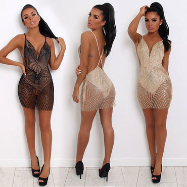 Backless Hot Style Mini Dress
