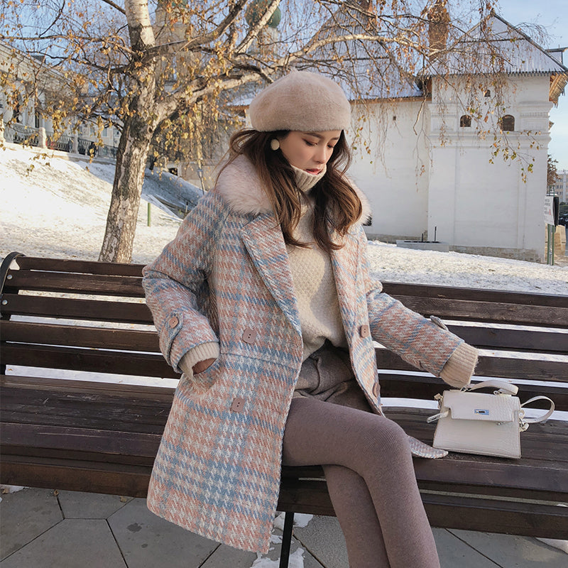 fashion warm woolen blends female elegant
