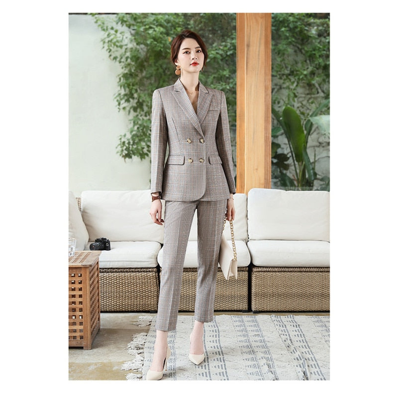 Women office clothing set fashion slim