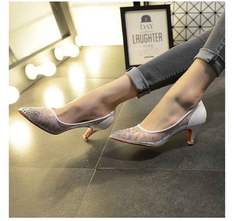 Shallow Mouth Stilettos High Heels Woman