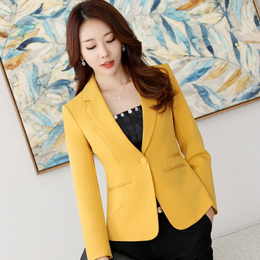 Outerwear Slim Fit Blazer Jackets