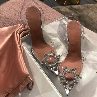 Crystal Cup High Heel Stilettos Sandals